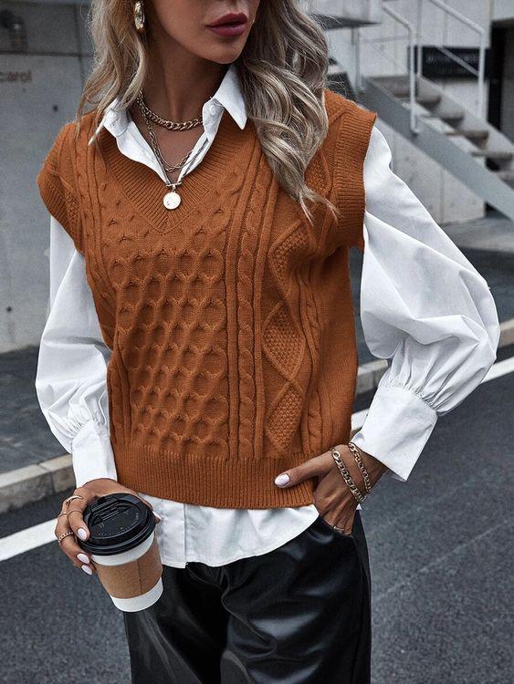 Colete de tricot