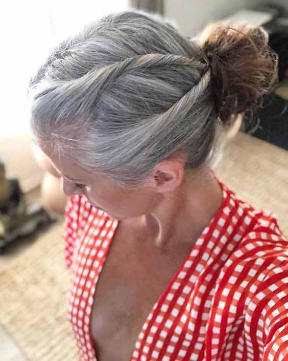 Transição do cabelo branco