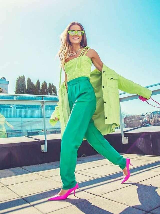 Verde é o novo preto e vira hit entre as fashionistas